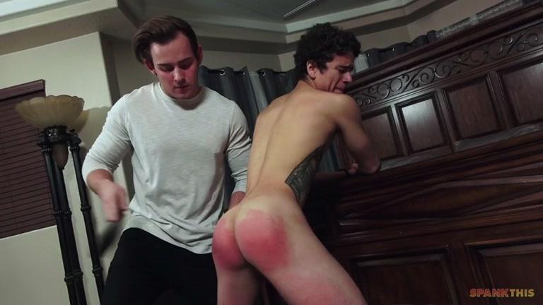 spanking bare butt with Josh Brady & Zach Letoa