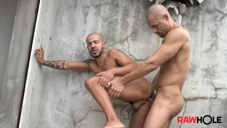 Bald Brazilians Bare Balling on Balcony