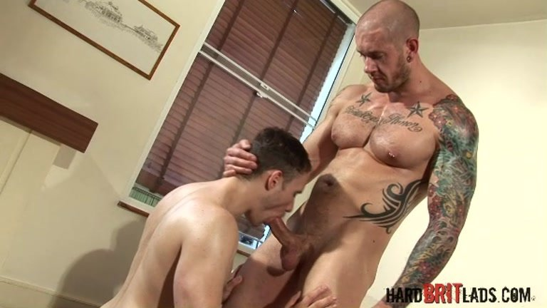 Stunning bottom fucked by muscle man
