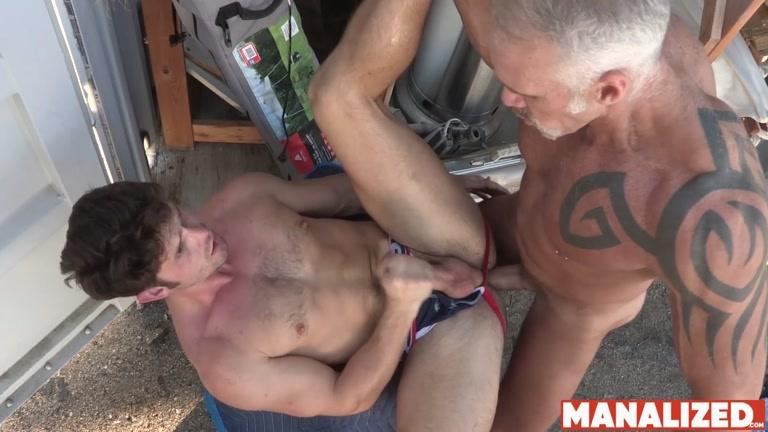 Silver Daddy Dallas Steele Bangs Devin Franco Outdoors
