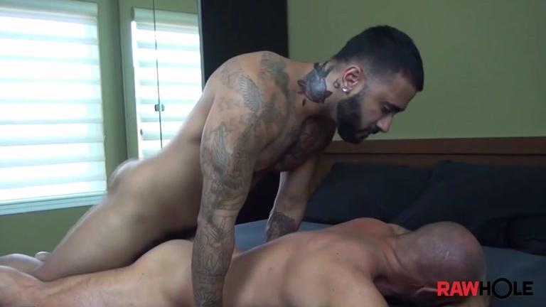 Inked Latin Hunk Plows Muscle Hunk Bareback