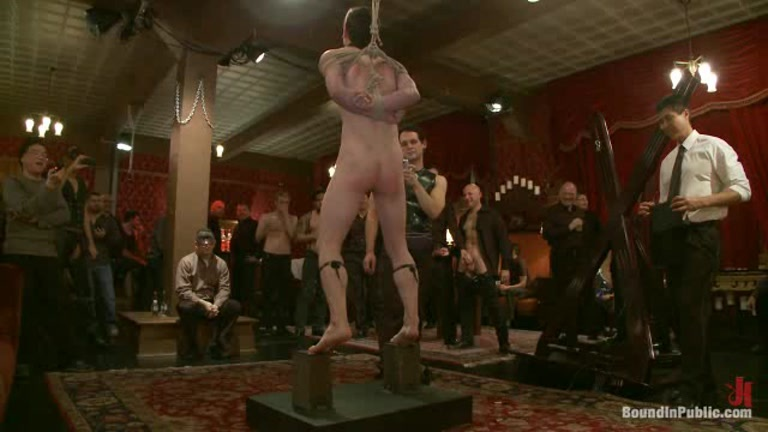 Abused while hung and bound