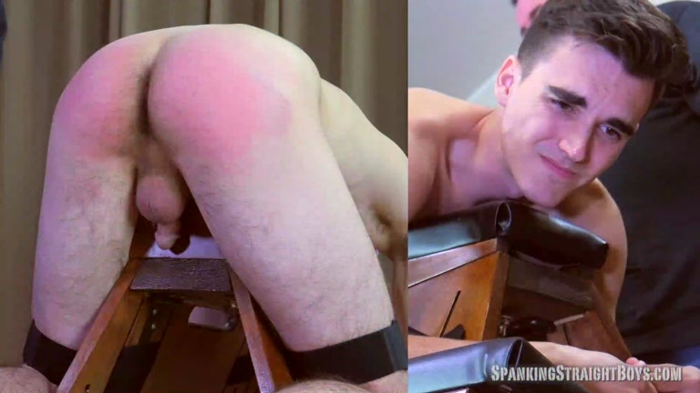 22-Year-Old Straight College Boy's Brutal Spanking
