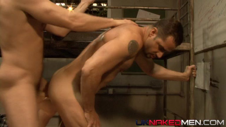 Ass penetrated hard by uncut cock
