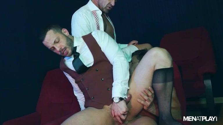 Three Business Men Have Afternoon of Debauchery at Porn Cinema
