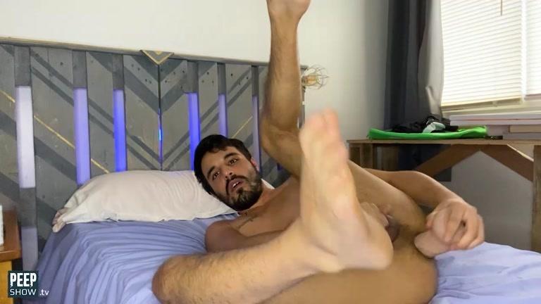 Horny Guy Snorts Poppers & Dildo Fucks His Hole