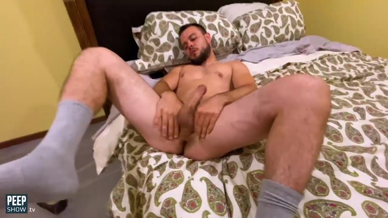 Guy Fucks Himself with Dildo Until He Cums