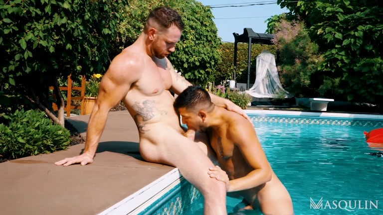Young Lad Gets Ass Plowed Before His Pool Party