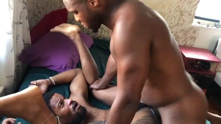Inked Black Man Gulps Andre Donovan's Monster Cock