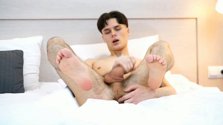 Slim Twink Get Himself Horny Watching Gay Porn Videos