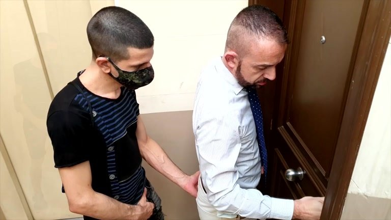 Horny Barcelona Lad Follows Daddy Home for Sex