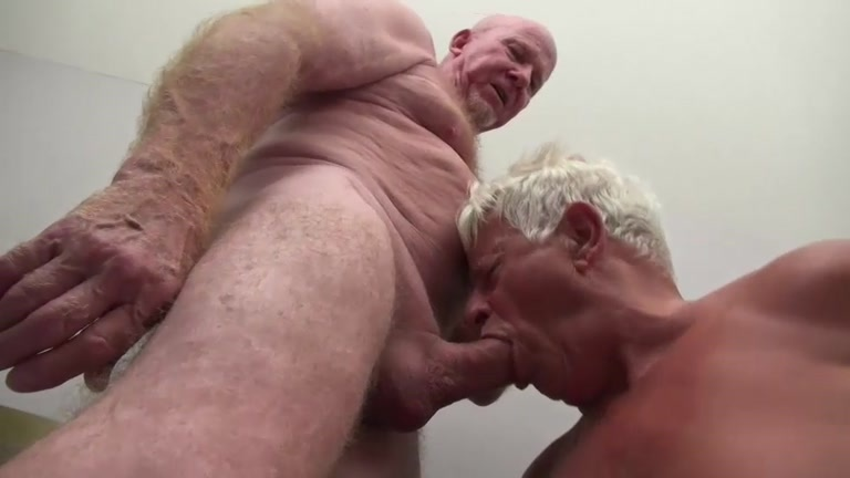 Bald Daddy Sinks His 9-Inch Cock Into Grandpa's Ass