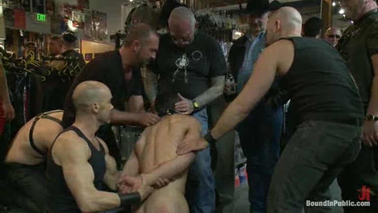 Gang fucked while tied up