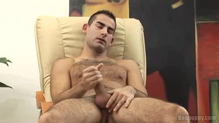 Hairy Dude's Foreskin Jerk Off