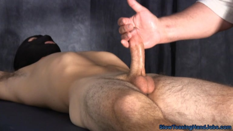 Slow teasing handjob milking