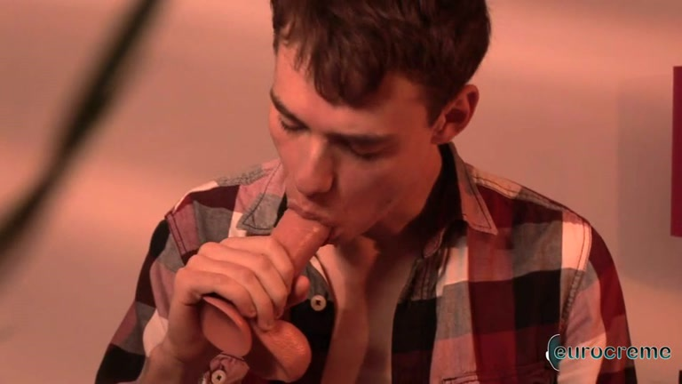 Dude Fantasizing and Playing with Dildo