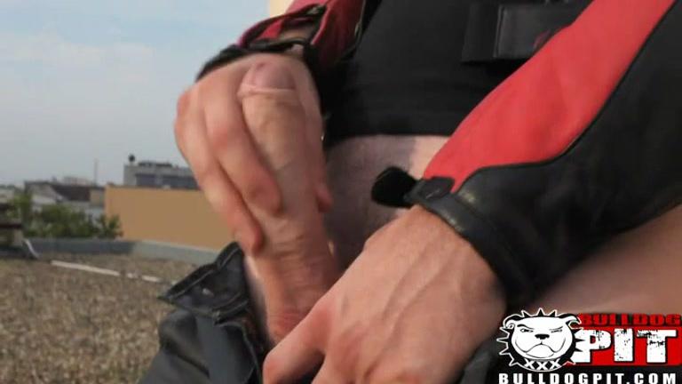 Biker's Roof Top Jerk Off