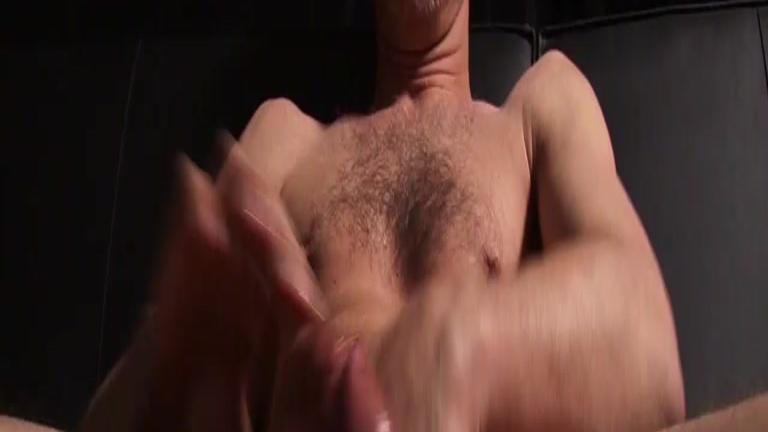 Hairy Man in Socks Beating Off