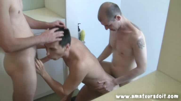 3 Aussie Fucking in Bathroom