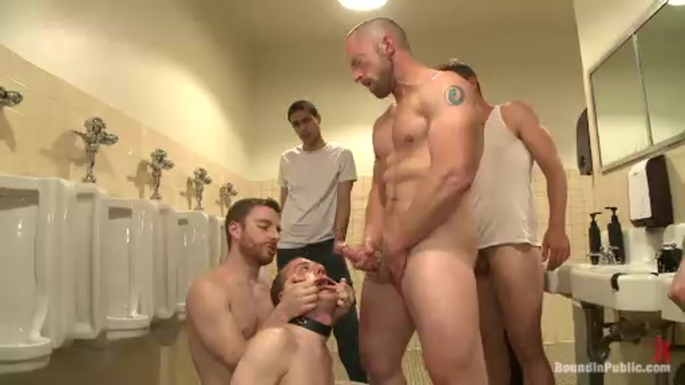 Bathroom Whore Gang Fucked and Used