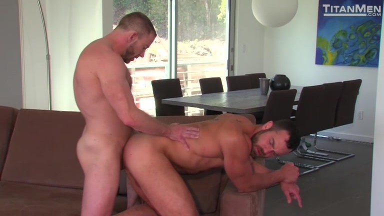 bearded bottom ass fucked with big meaty cock