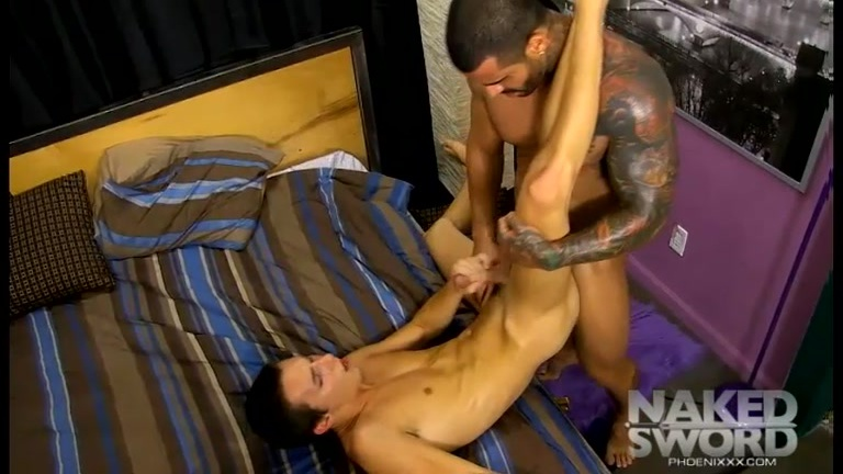 horny twink gets his ass serviced by inked daddy