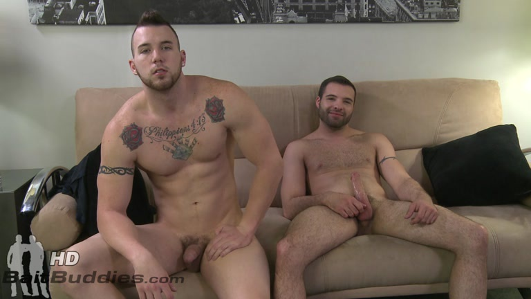 fuzzy dudes, one gay one straight, play with each other