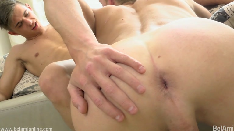 euro twink fuck buddies play on bed