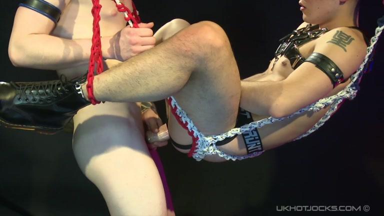 japanese sub gets fucked in sling - Yoshi Kawasaki and daniel james