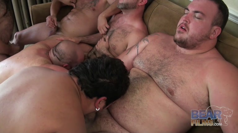 Workers with huge cocks gangbang sex