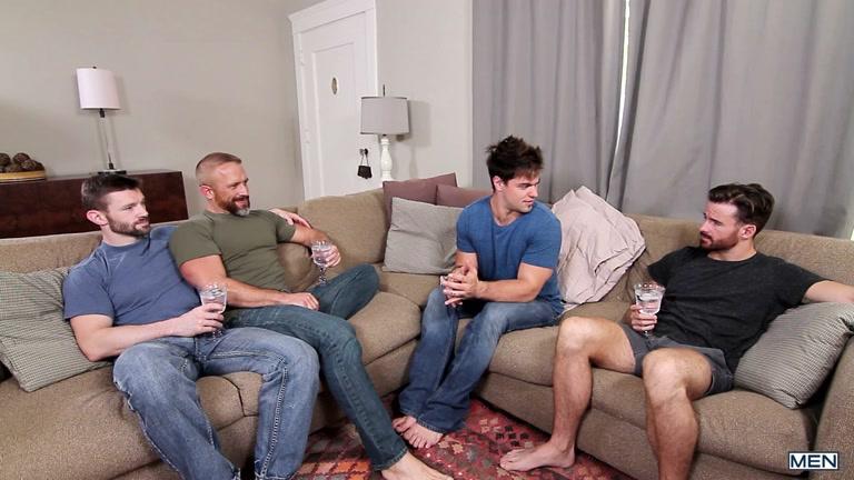 Dennis West, Aspen, Dirk Caber and Brendan Patrick  at Jizz Orgy
