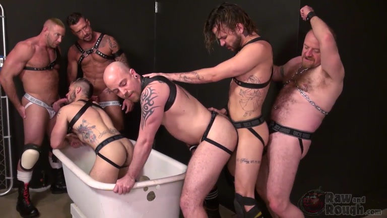 Aarin Asker and Lukas Cipriani piss pigs gets their asses gang banged
