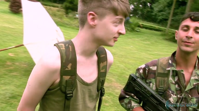 BTS on the set of eurocreme's Army Boy