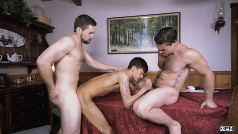 Colby Keller, Noah Jones, Vadim Black, Aspen, Griffin Barrows & Xander Brave at Jizz Orgy