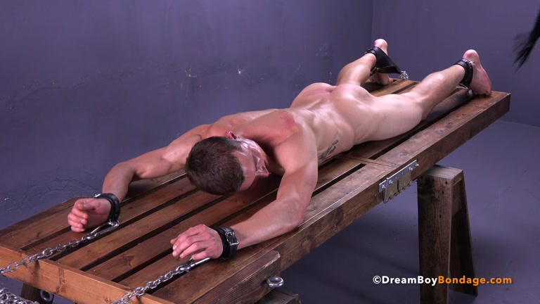 image Crucified men bondage gay hot wax is poured