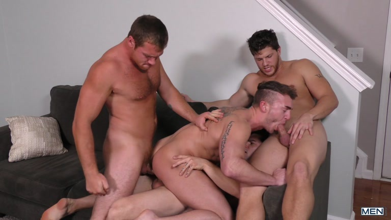 Connor Maguire, Aspen, Ashton McKay & Jake Ashford at Jizz Orgy