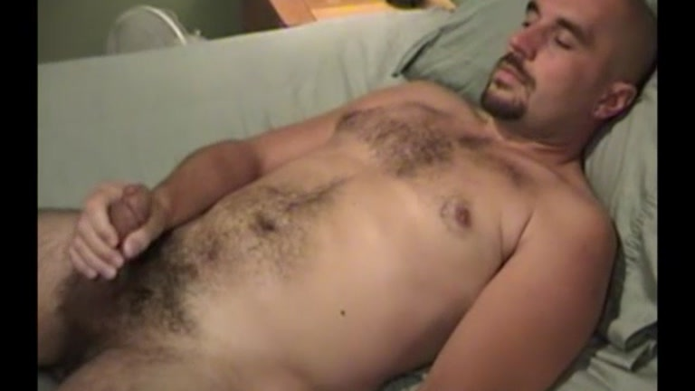 a man nude masturbating