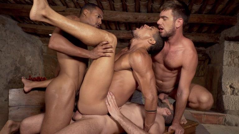 hairy men group sex