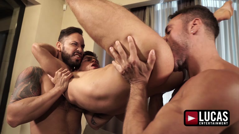 threeway sex with VIKTOR ROM, MANUEL SKYE & KLIM GROMOV at Lucas Entertainment