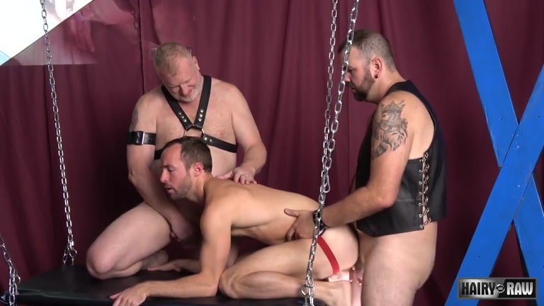 Rusty McMann, Aiden Storm and Alex Hawk at Hairy and Raw