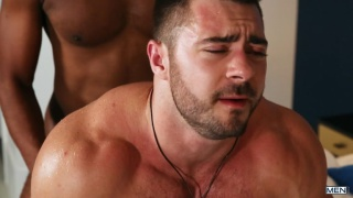 interracial sex with Lawrence Portland fucking Derek Bolt at MEN