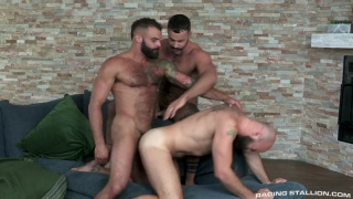 threeway sex with Drake Masters,Teddy Torres and Max Duro at Raging Stallion