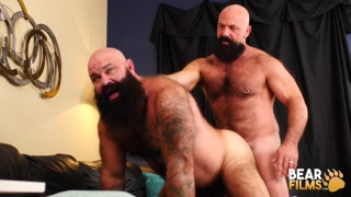 bearded men Jayson West and Victor West fucking at Bear Films