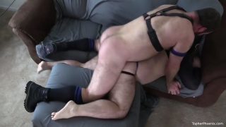 Topher Phoenix Fucks and Breeds Anon Leather Pig