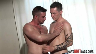 hung kick boxer fucks a big muscle lad