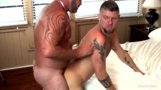 bottom moans and takes man's cock like the dick hound he is