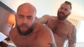 sexy ginger daddy fucks bearded daddy's ass