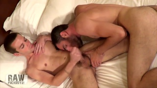 oral sex with Brandon Atkins blowing Joey at Raw Fuck Boys