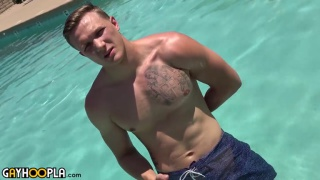 Blond Ryan Lacey Jerks Off at Gay Hoopla