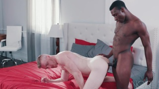 interracial sex with Parker Payne fucking Nick Fitt at Noir Male